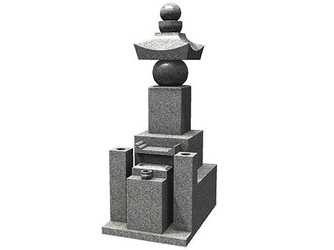 和型墓石の五輪等