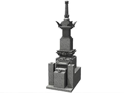 和型墓石の宝篋印塔