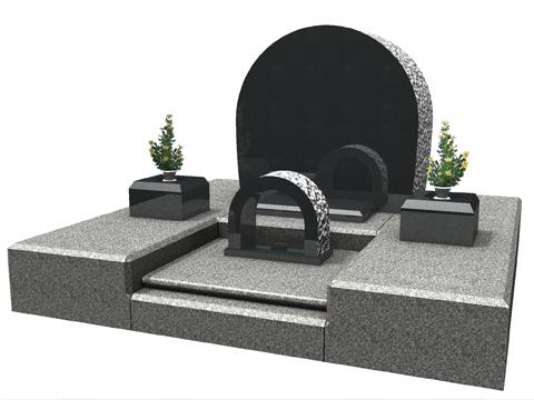 洋型の墓石の一例